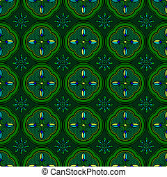 Seamless pattern green abstract shape  color background