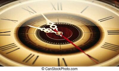 Clock 03 Classical Ticking Accelera - Classical clock...