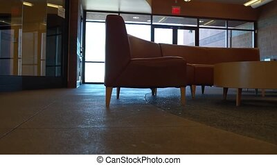 Lobby Panning Shot - A panning shot through the lobby of a...