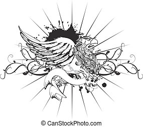gryphon tattoo tshirt isolated5 - gryphon tattoo tshirt...