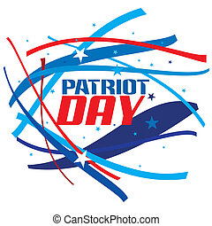 Patriot Day - An abstract illustration of Patriot Day on a...