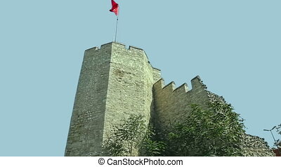 City walls Istanbul - Remains of the famous ancient walls of...