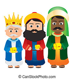 Magi - Abstract Magi Cartoon on a white background