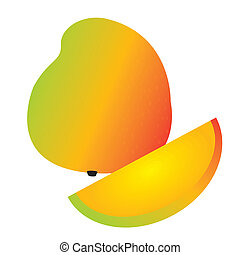 mango - abstract cartoon mango on a white background
