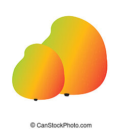 mango - abstract cartoon mango on a white background