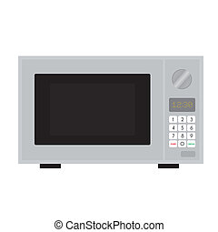 microwave - abstract cartoon microwave on a white background