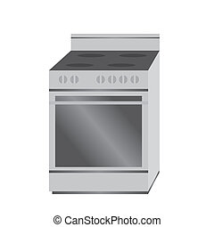 stove - abstract cartoon stove on a white background