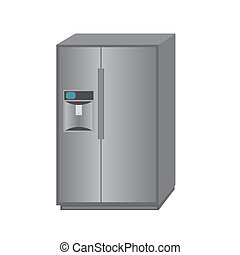fridge - abstract cartoon fridge on a white background