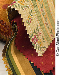 Fabric Swatches - Closeup of fabric samples on a table