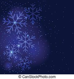 Snowflakes, Natal, fundo, Saudação