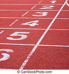 running track, start and finish line
