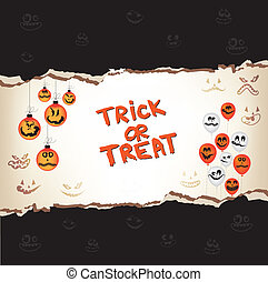 halloween trick or treat paper