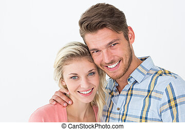 Close up portrait of young couple