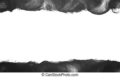 Black painted frame vector background