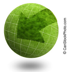 planet series green planet ecology recycle - a series of...