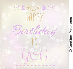 Birthday background with text