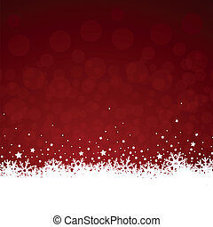 Red Christmas ice flowers - red christmas vector background...