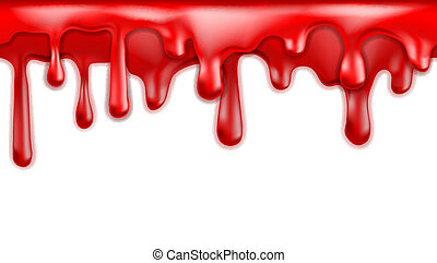 Red blood drips seamless patterns
