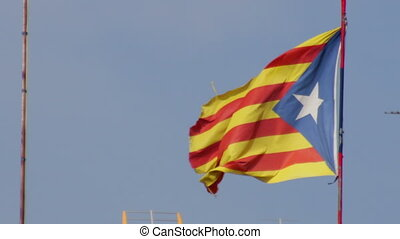 Pro-Independent Catalonia Flag - Big pro-independent...