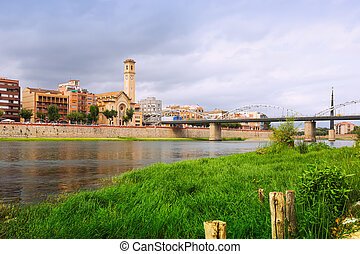 Ebro in Tortosa, Spain - Day view of Ebro in Tortosa, Spain...