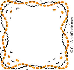 Halloween greeting frame - Congratulatory Halloween border...