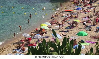 Beach Leisure Time 06 - Typical Mediterranean beach in...