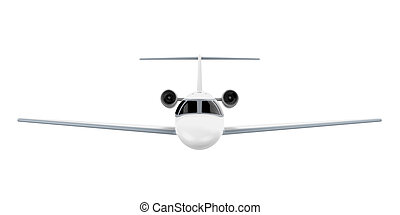 Airplane Jet Isolated - Airplane Jet isolated on white...