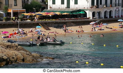 Beach Leisure Time 04 - Typical Mediterranean beach in...