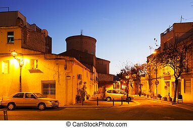 Evening street in Sant Adria de Besos - Evening street in...