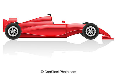 racing car vector illustration EPS 10 isolated on white...