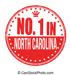 Number one in North Carolina stamp