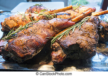 Roasted Lamb Thigh - Delicious roasted lamb thigh
