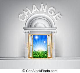 Make a change concept - Change door concept. A conceptual...