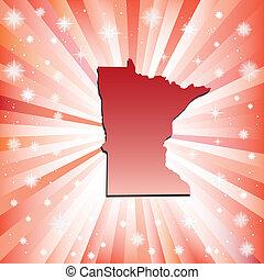 Red Minnesota. Vector illustration