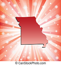 Red Missouri. Vector illustration