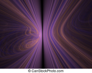 Bent Purple Wave - Division of purple and orange bent lines...