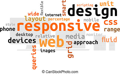 word cloud - responsive web design - A word cloud of...