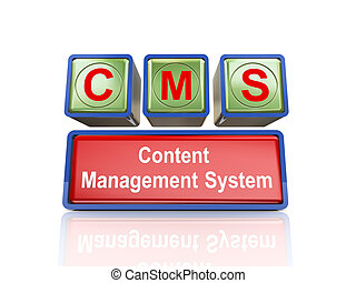 3d boxes of concept of cms