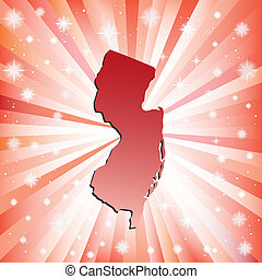 Red New Jersey. Vector illustration