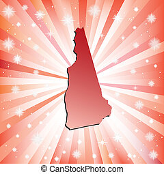 Red New Hampshire. Vector illustration