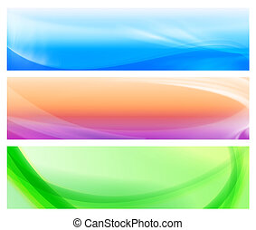 three colorful web abstract banners 2 - three colorful web...