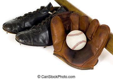 Vintage Baseball Equipment - Old, antique, vintage baseball...