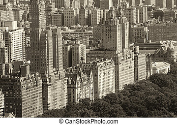 Aerial view of Manhattan - West Side as seen from...