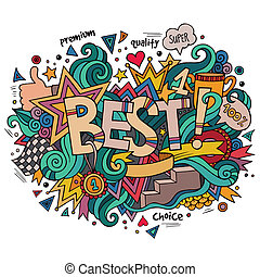 Best hand lettering and doodles elements background. Vector...
