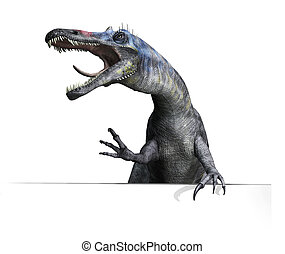 Suchomimus Dinosaur on Edge or Border - A Suchomimus...