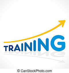 creative increase training word growth graph vector