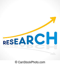 creative research word graph design vector