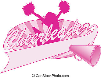 Cheerleader Jump Design - Illustration of a cheer design for...