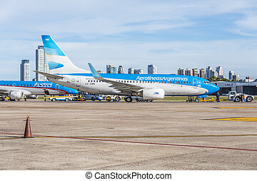 Jorge Newbery Airport, Argentina - BUENOS AIRES, ARGENTINA -...