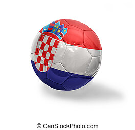 Croatian Football - Football ball with the national flag of...